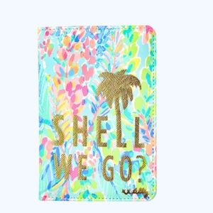 NWT, Lilly Pulitzer 'Shell We Go' Passport Case